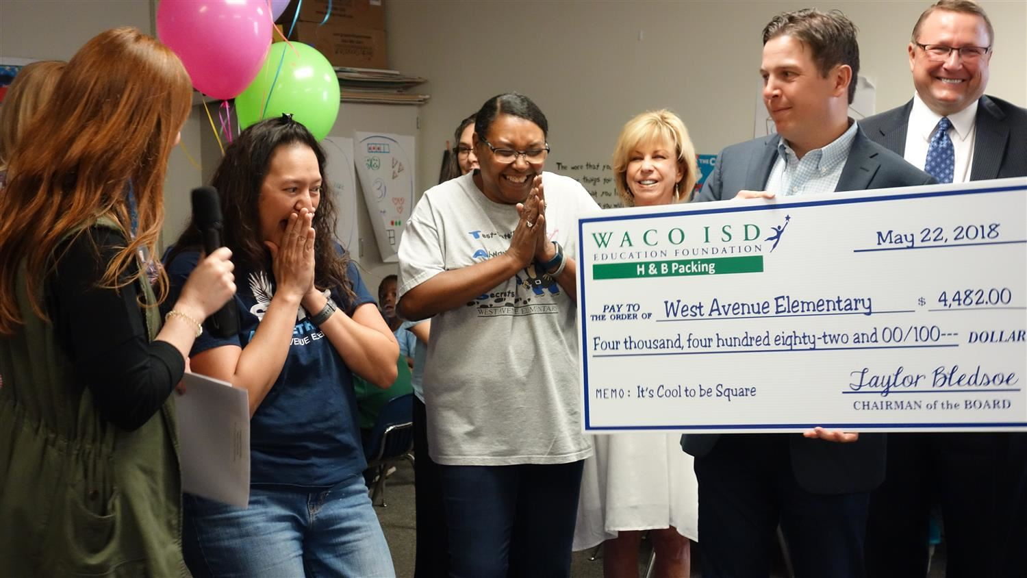 West Avenue teachers surprised with grant funds