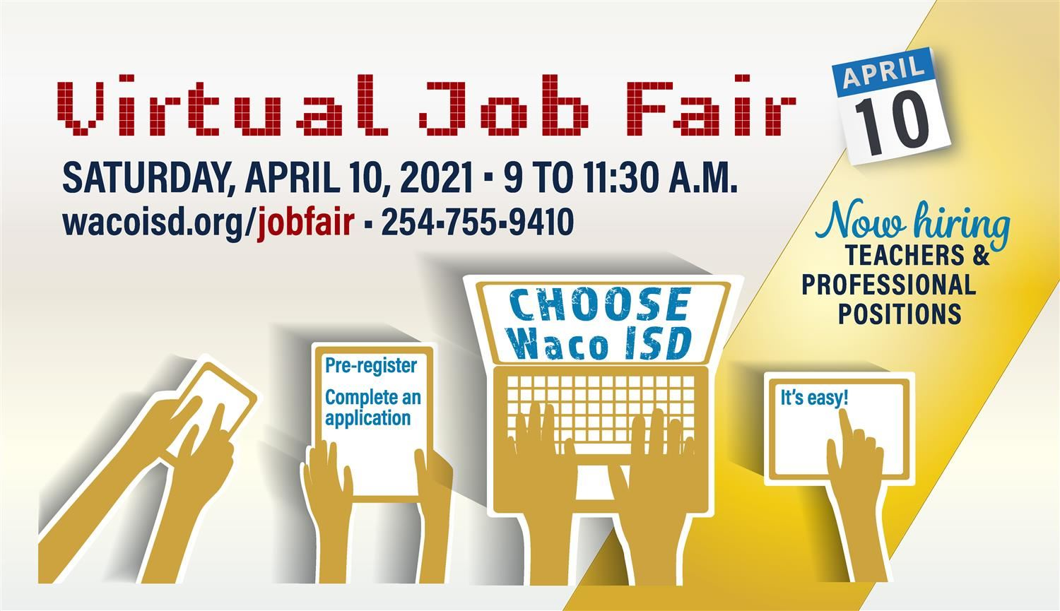 Virtual Job Fair April 10 9-11:30 am
