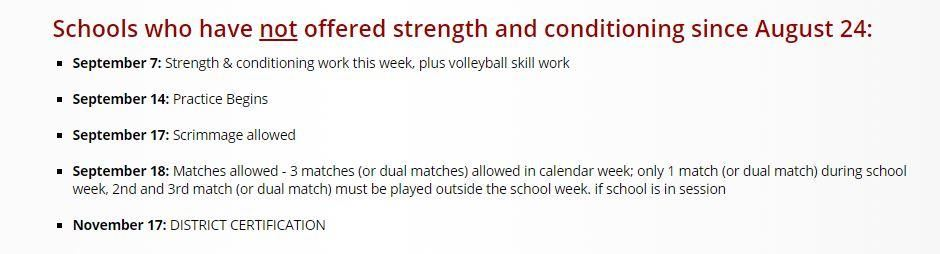 COVID Volleyball guidelines