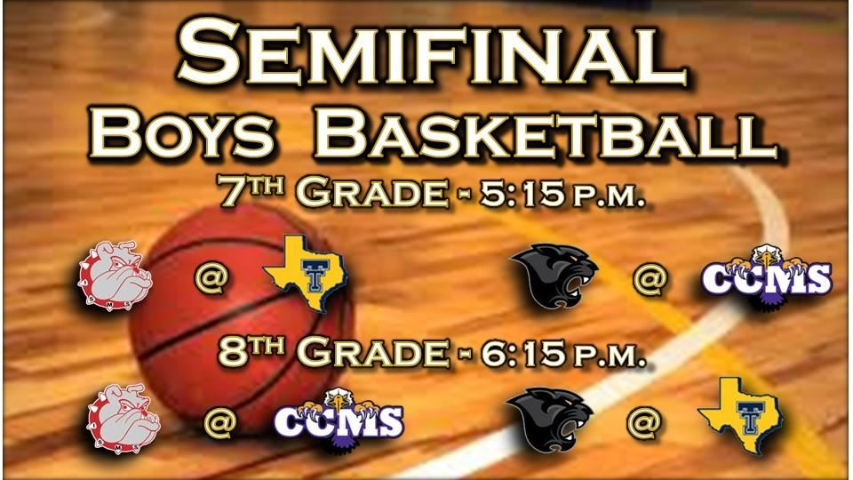Middle School Boys Basketball Semifinals